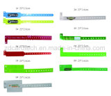 13.56MHz RFID PVC descartáveis impermeável personalizados/Pulseiras NFC