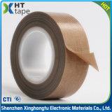 ブラウンのSingle-Sidedシリコーンの付着力のテフロン布テープ絶縁体の粘着テープ
