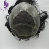 Toupee do sistema do cabelo humano para homens