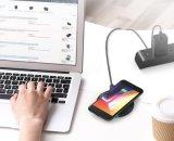Venda por grosso rápido carregamento sem fios universal para iPhone Qi Almofada Carregador Sem Fio