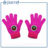 Col sólido estilo europeo con guantes de malla de patrón de animales