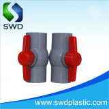 Высокое качество пластмассовых материалов ПВХ компактный шаровые клапаны