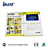 Nuevo Hardcover 2018 de la tendencia folleto video del Tarjeta-Vídeo del saludo del Tarjeta-LCD de la Tarjeta-Buiness video del LCD de 7 pulgadas