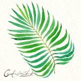 Handmade Venta caliente tela Pintura al Óleo con el verde deje Design