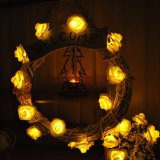 Lumières pendantes de temps de vacances de l'éclairage LED RVB de Rose de décoration d'arbre de Noël