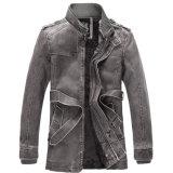 La mejor chaqueta de la PU del invierno de la venta para la ropa del ocio de los hombres