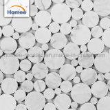 Mattonelle di mosaico di Backsplash del marmo della cucina del mosaico delle mattonelle del sottopassaggio della parete della decorazione