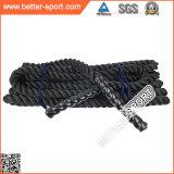 Crossfit, bataille de la corde de corde, exercices de cordes d'alimentation