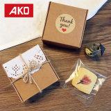 """""""Gracias"""" etiquetas adhesivas de papel recubierto de pasta de sellado Circular juntas envases artesanales"""