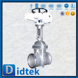 Запорная заслонка нержавеющей стали Didtek API600 с приводом