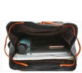 Backpack повелительницы PU щитка Drawstring сбор винограда кожаный (WDL0838)