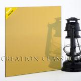 vidro reflexivo de bronze de 4-6mm/vidro reflexivo de bronze dourado
