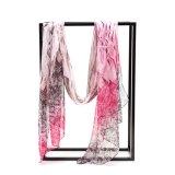 Écharpe en soie d'impression neuf de Digitals, écharpe en soie de sergé. Écharpes en soie
