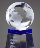 Trofeo cristalino global de la concesión con el laser del grabado del chorro de arena