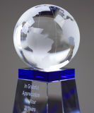 Premio Trofeo Cristal Global Sandblast con láser de grabado