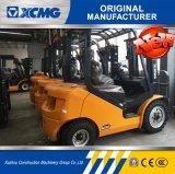 XCMG carretilla elevadora diesel confiable del mástil triple del motor de Xinchai de 2.5 toneladas