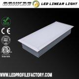 Dispositivo ligero ahuecado del perfil inferior LED, luz de aluminio inferior del acoplado del perfil LED del LED