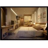 Cama matrimonial de madera modificada para requisitos particulares de los muebles del dormitorio del hotel del ocio
