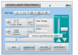 estaño del oro 12bars que sinteriza la máquina del retiro del pelo del laser del diodo 808nm
