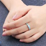 925 여자 형식 단백석 반지를 위한 은 반지 보석