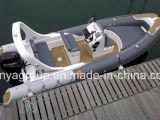 crogiolo gonfiabile di peschereccio della barca della nervatura del crogiolo di vetroresina di 6.2m