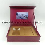 "Impressão personalizada ecrã LCD de 5"" de vídeo de música Caixa de oferta"