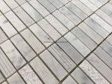 スタックされたパターン白い灰色の大理石の石造りのモザイク・タイル