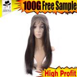 Silk передний парик шнурка в бразильских волосах девственницы