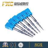 中国製切られるFxcの高品質の炭化物の先を細くすることの螺線形のフルートの球の鼻
