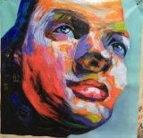 Het met de hand gemaakte Moderne Olieverfschilderij van het Mes van het Palet van het Cijfer van het Pop-art