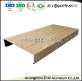 Matériau de construction incombustible Panneau en aluminium du déflecteur de plafond à la norme ISO9001