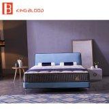 디자이너를 위한 단순한 설계 작풍 직물 실내 장식품 특대 나무로 되는 침대 고정되는 가구