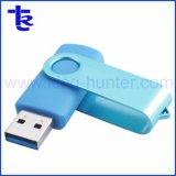 Portable Memory Stick™ USB pivotant en plastique pour cadeau de promotion