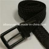 Noir en cuir et de Polyester Yarm mélange ceinture tressée