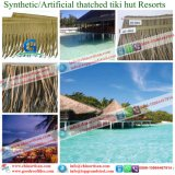 Tiki小屋のTiki棒艶出しリゾート2のための総合的なやし屋根ふき材料の人工的な屋根ふき材料