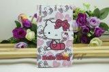 Teléfono móvil de diseño Kitty Funda de cuero para Samsung Galaxy Note 2 (N7100-LC0004)