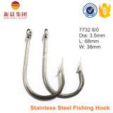 Amo di pesca dell'acciaio inossidabile di colore dell'argento del punto di Sharpended 7732