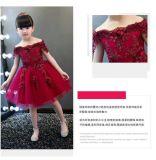 Нанесите валик вручную с вышитым кружевом принцессы платье