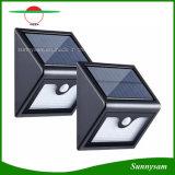 16 de LEIDENE Draadloze ZonneLichten maken Licht van de Veiligheid van de Tuin van de Muur van de Sensor van de Motie het Openlucht waterdicht