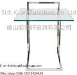 Het roestvrij staal poetste Duidelijk Aangemaakt Glas op de Hoogste ZijLijst van het Eind voor het Meubilair van de Slaapkamer van de Bank op