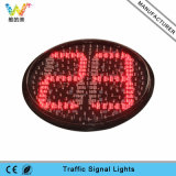 Alto semaforo rosso del temporizzatore di conto alla rovescia di verde giallo di luminosità 400mm
