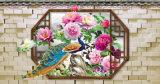 Фотоий 3D цветка павлина и Peony самонаводит картина маслом украшения