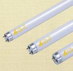 O tubo de luz fluorescente