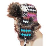 Bouchon d'hiver de la mode avec l'homme fait de la fourrure (VT033)