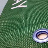 밧줄 고리를 가진 옥외 비닐 담 메시 기치를 인쇄하는 관례