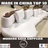 Sofà moderno del cuoio bianco con il Chaise impostato (Lz105)