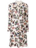 Платье флористической печати втулки способа длиннее