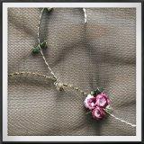 Шнурок вышивки сетки шнурка вышивки цветка шнурка вышивки сетки 3D поли