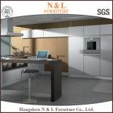 Mélamine, laque à haute brillance, PVC, armoires de cuisine en bois massif