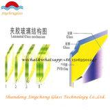 Vidro Laminado temperado claro e colorido colorido de 6.38mm / 10.76mm / 12.38mm